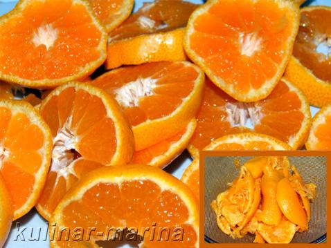 Рецепт: Мандариновый ликёр. Так нарезать мандарины