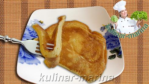 Пышный омлет без молока | Fluffy omelet without milk