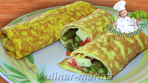 Омлет с овощами | Omelet with vegetables