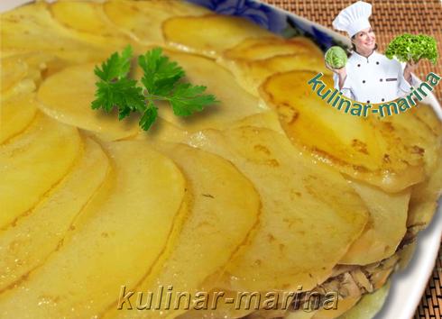 Картофельный пирог с грибами без теста | Potato pie with mushrooms