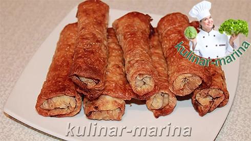 Хрустящие рулетики из лаваша | Crispy rolls of pita