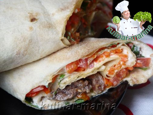Мясо в лаваше | Meat in pita bread