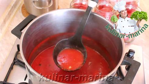 Помидоры в томатном соке с чесноком и специями | Tomatoes in tomato juice with garlic and spices