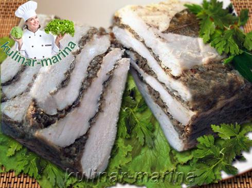 Закуска из куриной грудки с грибами | Chicken breast with mushrooms