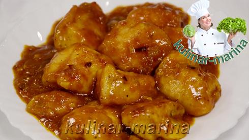 Курица в кисло-сладком соусе по-китайски | Chicken in sweet and sour Chinese sauce