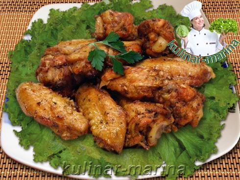 Куриные крылышки в чесночном маринаде | Chicken wings in garlic marinade