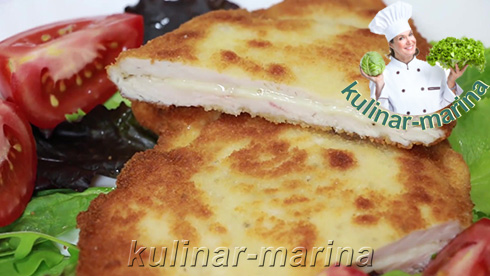 Куриная грудка с прослойкой сыра   Chicken breast with a layer of cheese
