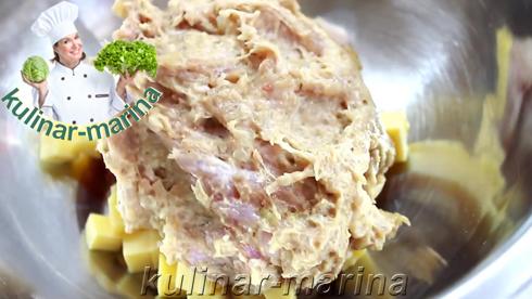 Курино-свиная колбаса с сыром | Chicken-pork sausage with cheese