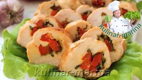 Рулеты куриные с болгарским перцем | Rolls chicken with bell peppers