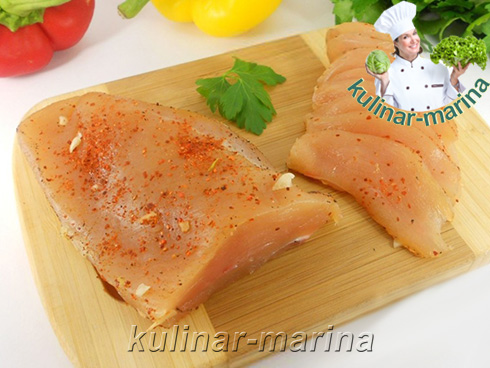 Пошаговые фотографии рецепта: Вяленая куриная грудка | Dried chicken breast
