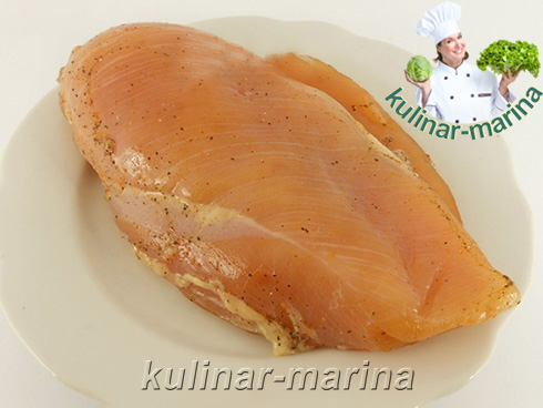 Пошаговые фотографии рецепта: Вяленая куриная грудка   Dried chicken breast
