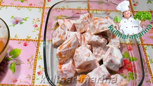 Пошаговые фотографии рецепта: Запеченные в тыкве куриные бедра | Baked pumpkin chicken thighs