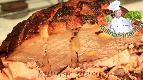 Свиной окорок в духовке одним куском | Pork ham in the oven in one piece