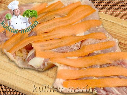 Закусочный рулет из рульки в луковой шелухе | Snack roll of the shank in onion skins