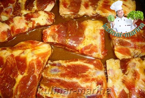 Пошаговые подробные фото рецепта: Свиные ребрышки в меду | Pork ribs in honey