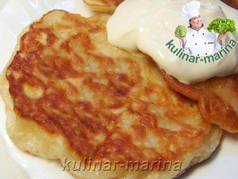 Яблочно-творожные оладьи | Apple-cottage cheese pancakes