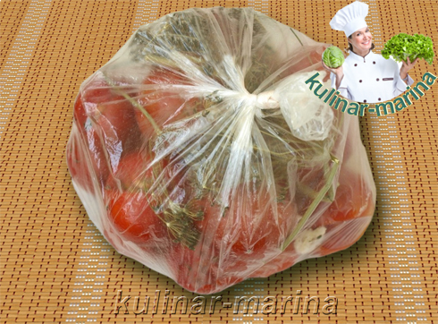 Малосольные помидоры в пакете | Salted tomatoes in the package