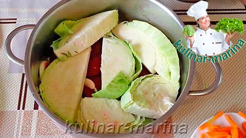 Пошаговые фото рецепта: Маринованная капуста со свеклой   Pickled cabbage with beets