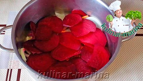 Пошаговые фото рецепта: Маринованная капуста со свеклой | Pickled cabbage with beets