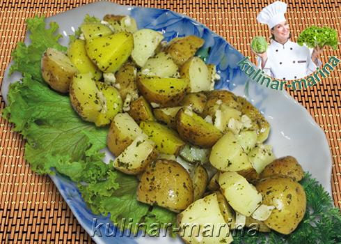 Картофель с чесноком в рукаве для запекания | Potatoes with garlic in the sleeve for baking