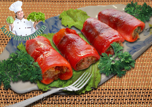 Рулетики из перца по-кавказски | Rolls of pepper in Caucasian