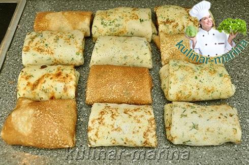 Рецепт с подробным описанием и пошаговыми фото: Блинчики в панировке с начинкой | Pancakes breaded with stuffing