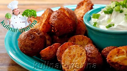 Фото рецепта: Запеченный в духовке картофель c сырной корочкой | Oven baked potato cheese crust