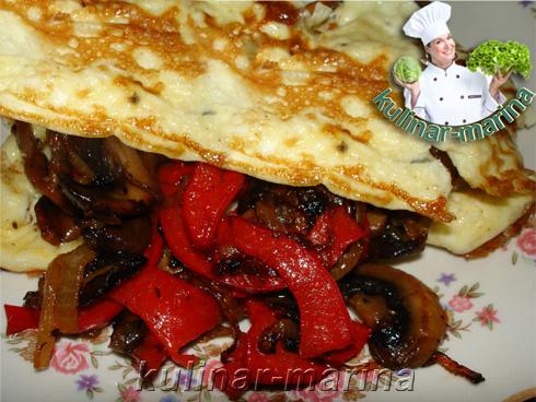 Вкуснейший бризоль с шампиньонами и сладким перцем | Delicious brisol with mushrooms and sweet peppers