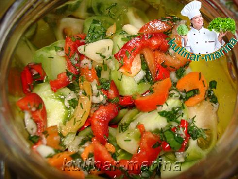 Острые чесночные зеленые помидоры | Spicy garlic green tomatoes