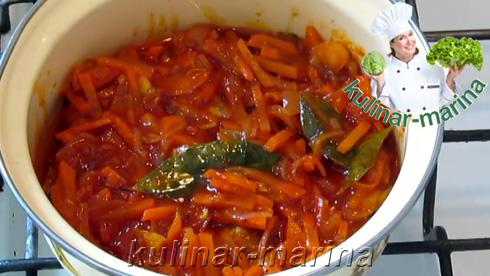 Рыба в томатно-овощном соусе | Fish in tomato-vegetable sauce