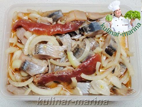 Подробный рецепт с пошаговыми фотографиями: Селедочка в кетчупе | Herring in ketchup
