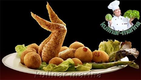 Улыбнись. Вариант оформления тарелки: куриные крылышки