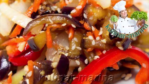 Вкуснейший салат с баклажанами по-корейски. Вариация №3 | Delicious salad with eggplant in Korean. Variation No.3
