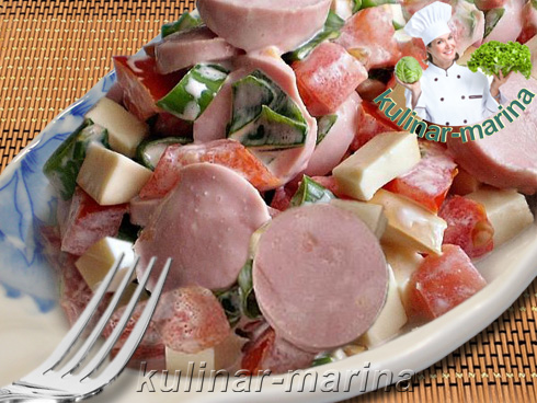 Немецкий салат с сосисками   Deutsch-Salat mit Würstchen   German salad with sausages