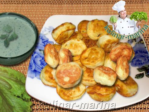 Жареные пельмени с грибами из картофельного теста | Fried dumplings with mushrooms from potato doug