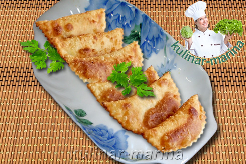 Мини чебуреки с зеленью и сыром | Mini pasties with herbs and cheese