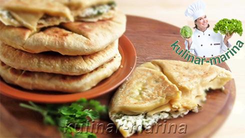 Лепешки с зеленью и творогом | Flatbread with herbs and cheese