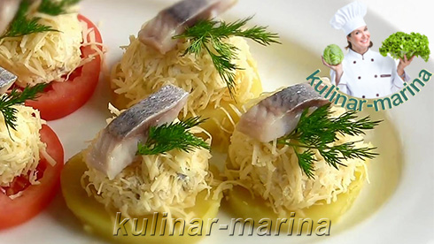 Подробный рецепт с фотографиями: Новогодняя закуска из сельди | New year's appetizer of herring