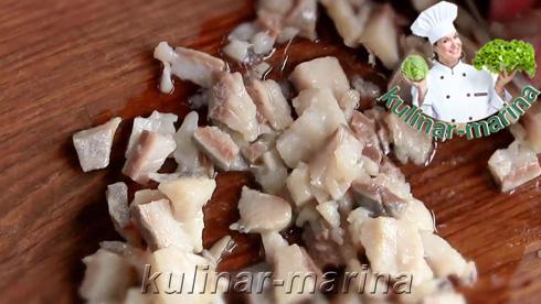 Подробный рецепт с фотографиями: Новогодняя закуска из сельди   New year's appetizer of herring