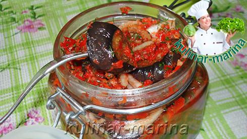 Острая, вкусная и быстрая закуска из баклажанов | Spicy, tasty and quick appetizer of eggplant