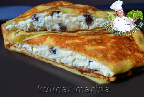 Блинчики с творогом и изюмом | Pancakes with cottage cheese and raisins