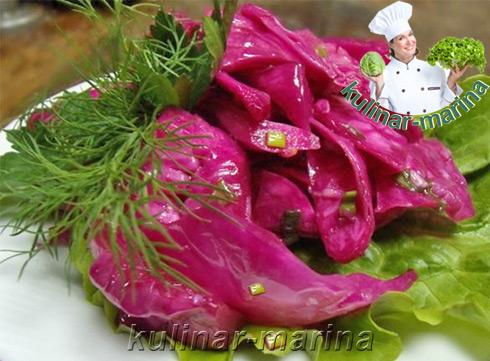 Маринованная капуста со свеклой | Pickled cabbage with beets