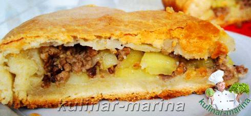 Пирог с фаршем и картошкой рецепт из сдобного теста