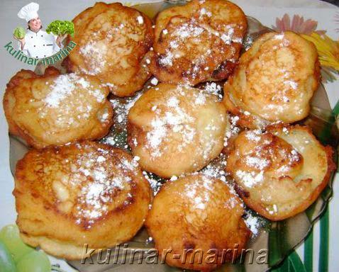 Яблочно-творожные пончики