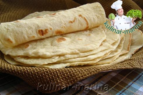 Тортилья для буррито или домашняя лепёшка | Tortilla for burritos